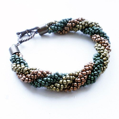 braided bracelet beaded bracelet seed bead bracelet seed