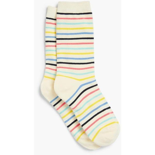 Talbots Women's Candy Stripe Trouser Sock (400 RUB) ❤ liked on Polyvore featuring intimates, hosiery, socks, ivory multi, stripe socks, striped cotton socks, trouser socks, cotton trouser socks and rainbow striped socks