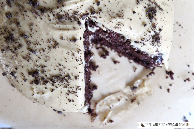 Gluten-Free Chocolate Cake with Cheesecake Frosting & Cookie Crumble