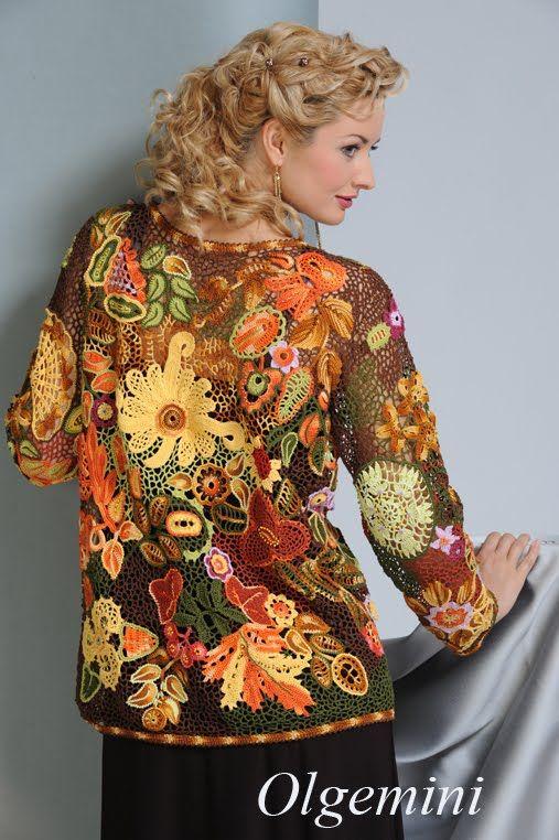 Freeform, irish crochet lace by Russian crafter