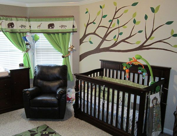 Did I mention that I'm obsessed with trees painted on walls in the nursery?: Current Baby, Color, Baby Mikey, Baby Girls, Baby Ava, Baby Rooms