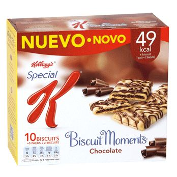 Barritas Biscuit Moments Chocolate Special K (Supersol) - 1 barrita 1 punto.
