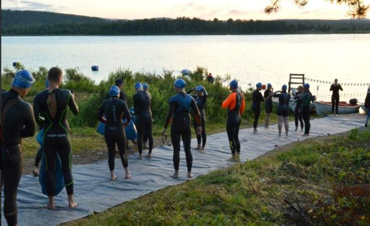 The Arctic Circle at Pello: Swim the Arctic Circle on the Tornio River