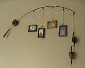 Fishing Pole Picture Frame Metal Brown 4 by DabbledDetails. $27.00, via Etsy.