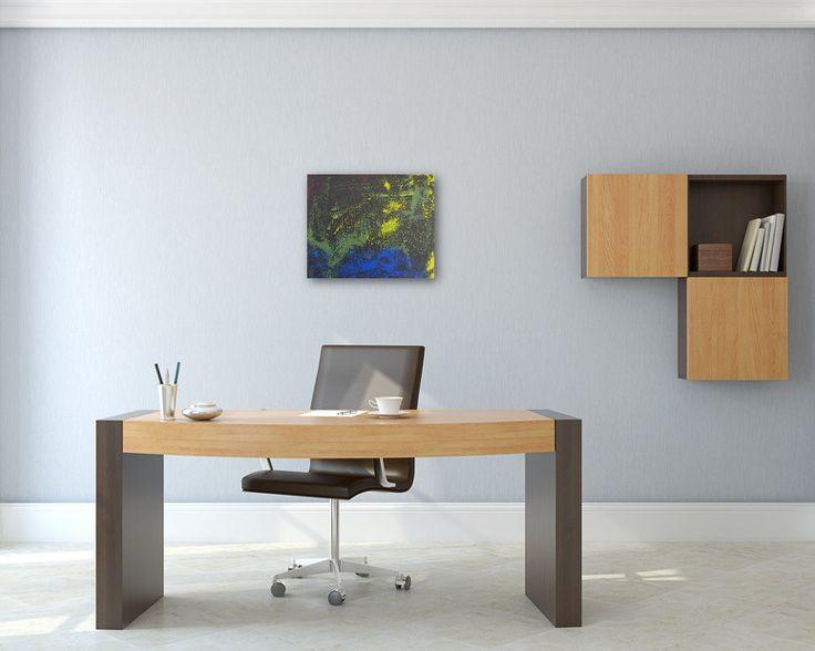 Bildvorschau: Nr. 576 Am See (2012) von Manuel Süess im Büro http://art-by-manuel.com