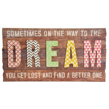 Houten Tekstbord - Dream