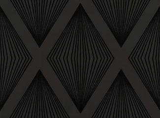 FLL-101 | Lawrence Laurito Funky Flock Retro Velvet Wallpaper - Black
