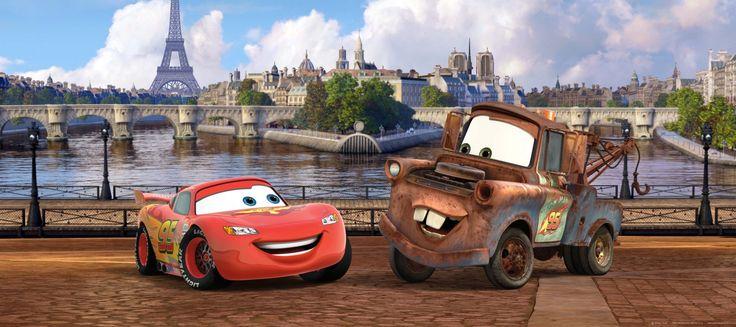 Fototapete Tapete Disney Cars 2 Lightning McQueen & Hook Foto 202 x 90 cm