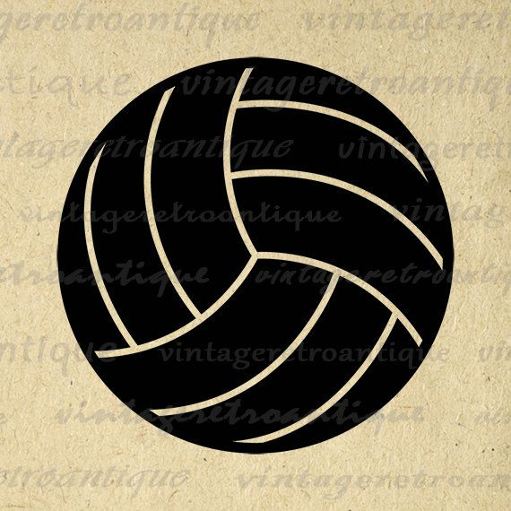 Digital Printable Volleyball Image Sports Graphic Volleyball Download Vintage Clip Art Jpg Png Eps 18x18 HQ 300dpi No.4541 @ vintageretroantique.etsy.com #DigitalArt #Printable #Art #VintageRetroAntique #Digital #Clipart #Download