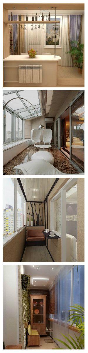 Балконы и лоджии имеются практически во всех квартирах. Как правильно оборудовать свой балкон, чтобы максимально рационально использовать это пространство? Вопросов много, а ответ один - определите прежде всего, чего вам не достает в вашей квартире? Небольшие балконы и лоджии, так же можно сделать весьма уютными комнатами для отдыха. Крупные люстры или торшеры здесь будут неуместны, а вот аккуратные точечные светильники и небольшие детали многоуровневого потолка с подсветкой - весьма кстати.