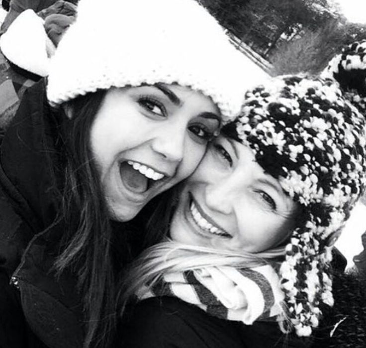 Nina Dobrev and Candice King