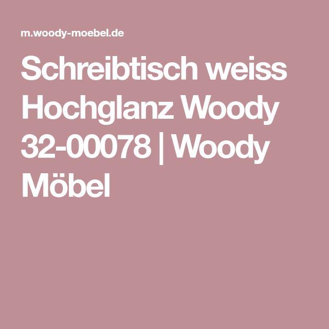 Schreibtisch weiss Hochglanz Woody 32-00078 | Woody Möbel