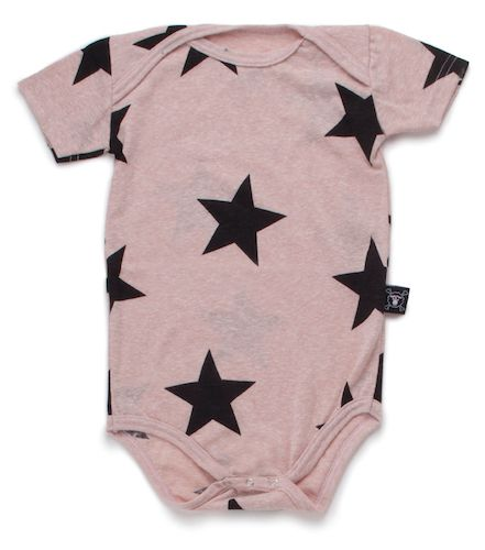 unleash your child's star quality with the powder pink all over star print onesie. whether it's for playtime or bedtime, your baby is sure to love the comfort and softness and parents the style of this starry piece.