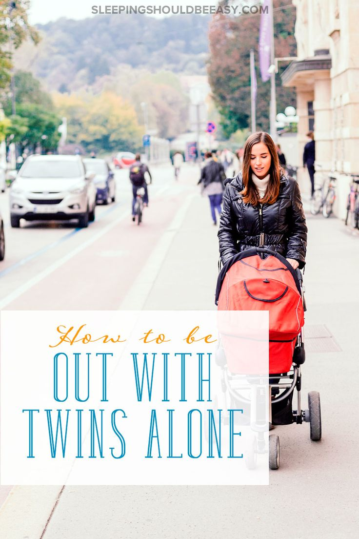 Going out with twins alone feels scary for many moms and dads. Don't worry: Here are ways to be out and about and still survive.