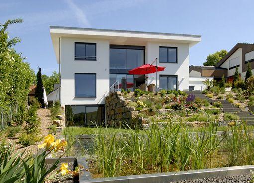 Terrasse Hanglage Modern. gartengestaltungsideen steingarten ...