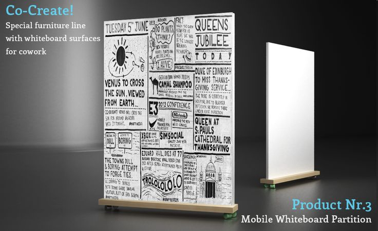portable whiteboard idea, rolling