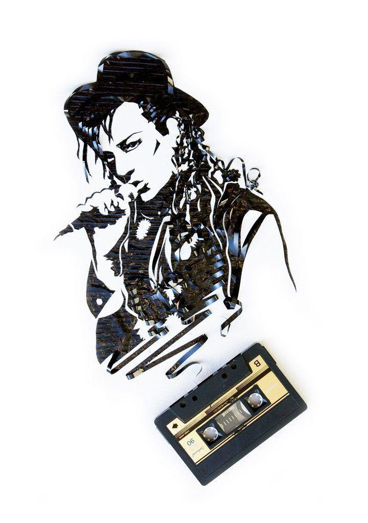 Cassette Tape Art Cassette Tape Art Tape Art Cassette Tape Crafts