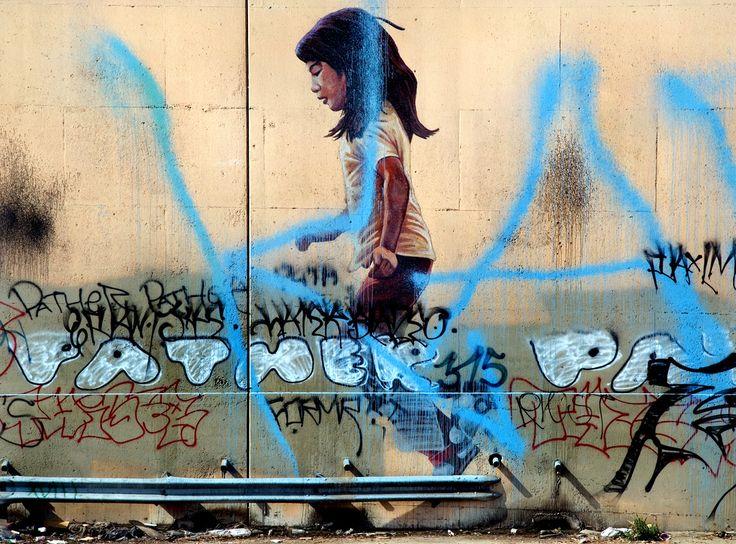 L.A. 101 Freeway: 1984 Summer Olympics Children Mural