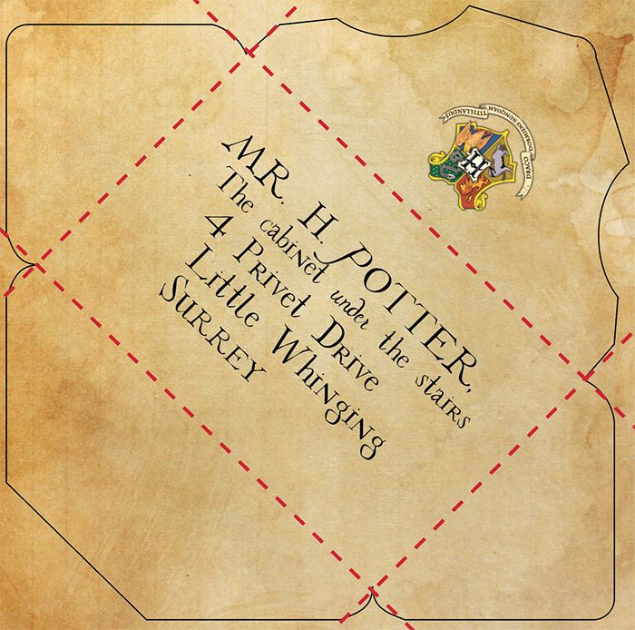 picture regarding Harry Potter Envelope Printable known as Cost-free Printable: Customizable Hogwarts Letter and Envelope