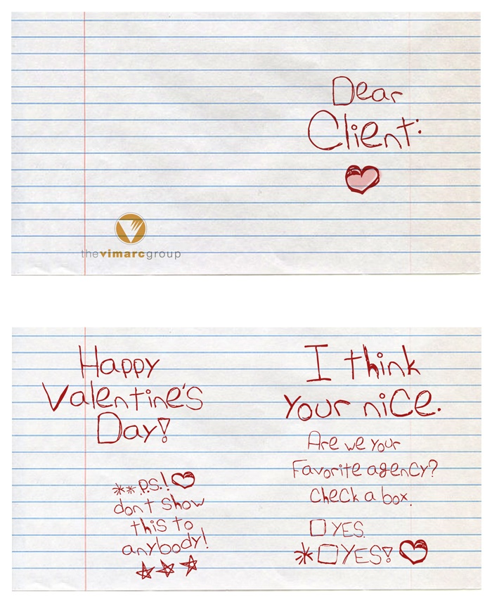 Valentine Card self-promotion by the vimarc group