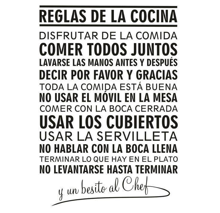 Reglas de la cocina