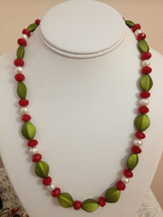 Colorful Christmas Necklace by karlajophoto on Etsy, $25.00