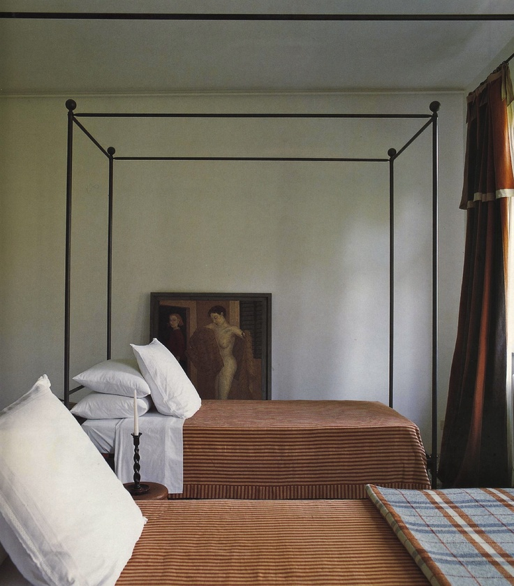 "Iron bed frame. Photo from book ""Tuscan Escapes"" by Caroline Clifton Mogg."