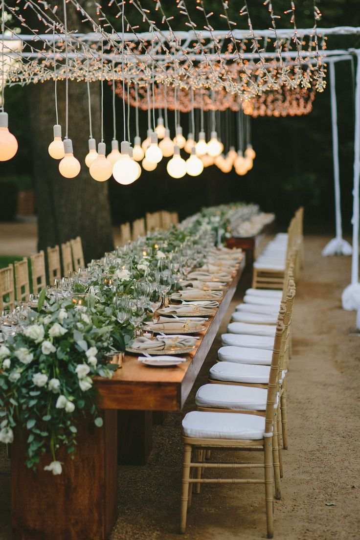 Decorative lights for weddings - Intimate Al Fresco Wedding At Boschendal By Wedding Concepts Kikitography