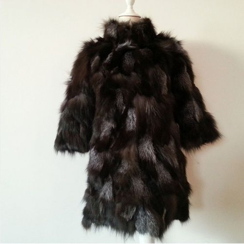 New real fox Fur Coat women silver fox Fur Jacket with collar winter fox fur waistcoats custom plus size Free shipping