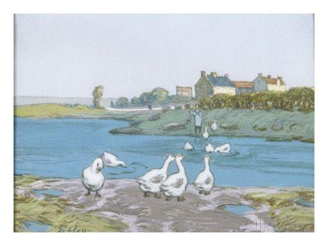 La Mare aux oies Lámina giclée por Alfred Sisley en AllPosters.es