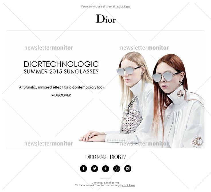 New DiorTechnologic sunglasses, futuristic, mirrored effect