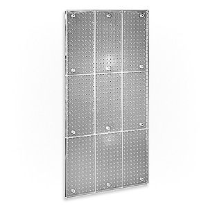 "Clear acrylic pegboard panels let the wall color shine through.  24"" x48"" for craft storage $38 per panel"