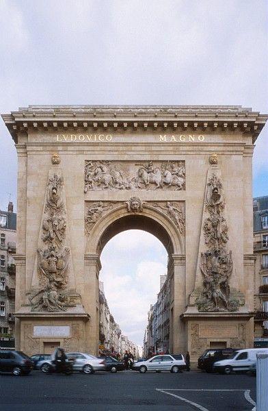 porte saint denis, paris, france.