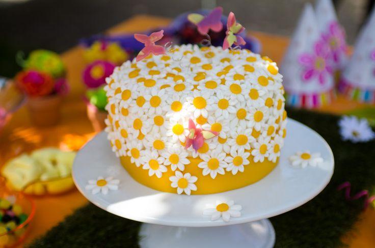 Gâteau Fleurs à damiers d'Alison