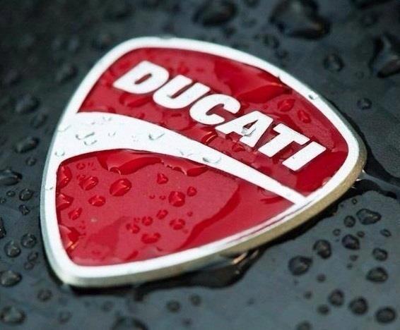 Water beaded Ducati emblem