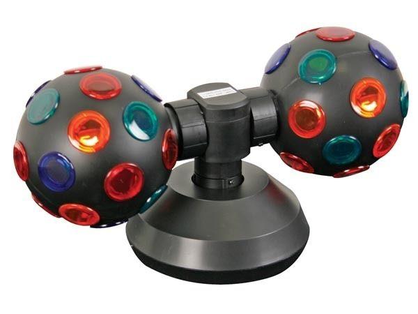 Te presentamos una bola de luces para que ilumines tus fiestas, dotada con una bola a cada lado podrás disfrutas más de tus fiestas con los amigos.