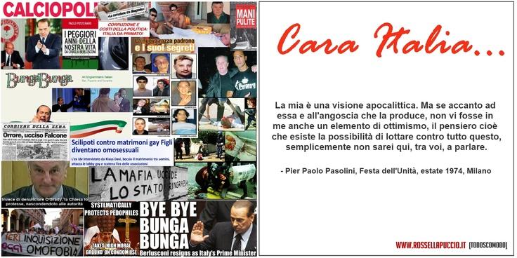 Pier Paolo #Pasolini, Festa dell'Unità, estate 1974, Milano    #aforismi #citazioni