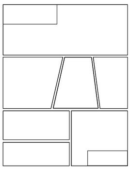 blank graphic novel (comic book) template