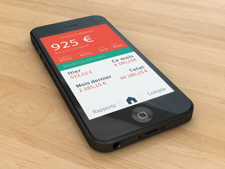 Simple Flatsense iOS App - New Experience - Mobile Interface on Creattica: Your source for design inspiration