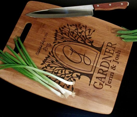 Chopping Block Personalized Cutting Board Cheese Tray Engraved and Carved Custom Cutting Board
