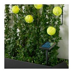 IKEA - SOLARVET, LED lighting chain with 24 lights, , You can personalize the light chain to match the season or your style. Just add the decorations of your choice and change them any time.Helps you save energy and reduce your environmental impact because it is powered by a solar panel that converts sunlight into electricity.Easy to use because no cords or plugs are needed.Gives a warm, cozy glow and spreads the holiday atmosphere outdoors, around your patio, terrace or balcony.Uses LEDs…