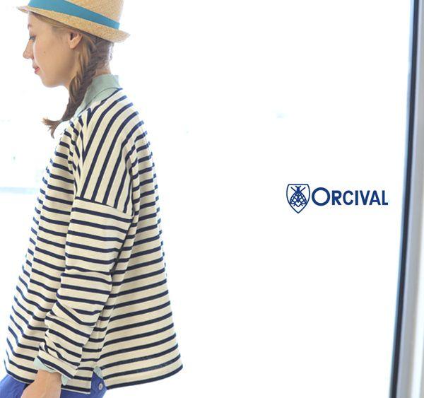 【楽天市場】ORCIVAL オーシバル/オーチバル CLW COTTON LOURD/ボーダー ワイドTシャツ・B419(全7色)(free)【2014春夏】:Crouka(クローカ)