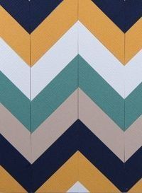 Love this color combo of mustard yellow, teal, taupe and navy.