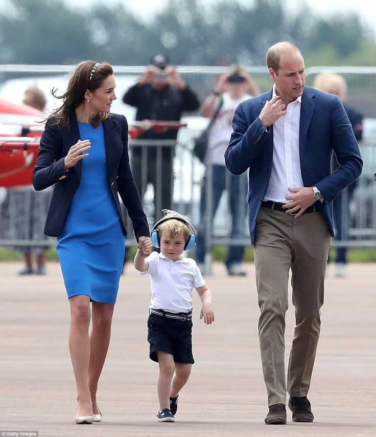 Prince William, Duke of Cambridge, Catherine, Duchess of Cambridge and Prince George visit the Royal International Air Tattoo at RAF Fairford on July 8, 2016 in Fairford, England. The Duchess is patron of the Air Cadet Organisation and has visited the Air Tattoo stages official celebrations to mark the Air Cadets' 75th anniversary.