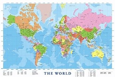 Wereldkaart  Posters.nl