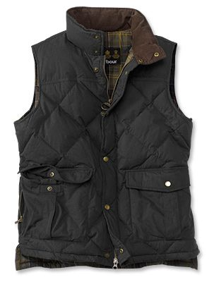 Just found this Mens Down Insulated Vest - Barbour%26%23174%3b Down-Filled Waxed Gilet -- Orvis on Orvis.com!