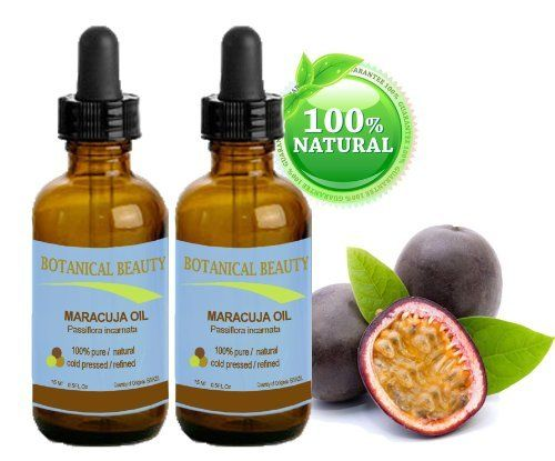 MARACUJA OIL. 100% Pure / Natural. Cold Pressed / Undiluted. For Face, Hair and Body. 0.5 Fl. Oz -15 Ml . (Pack-2) By Botanical Beauty by Botanical Beauty. $24.95. This Maracuja Oil is suitable for all skin types, especially for dry or mature aging skin. It helps to balance the moisture in the skin. It helps to remove toxic build-up in the skin, improving the skin's complexion. Maracuja Oil does not clog pores.. Maracuja Oil helps damaged skin like burns, wounds, cuts...
