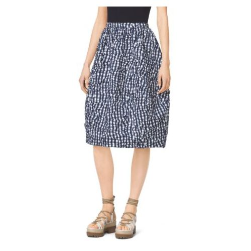 MK Black Friday Sales & MICHAEL KORS COLLECTION Gingham Double-Face Wool Halter Sundress LAWN