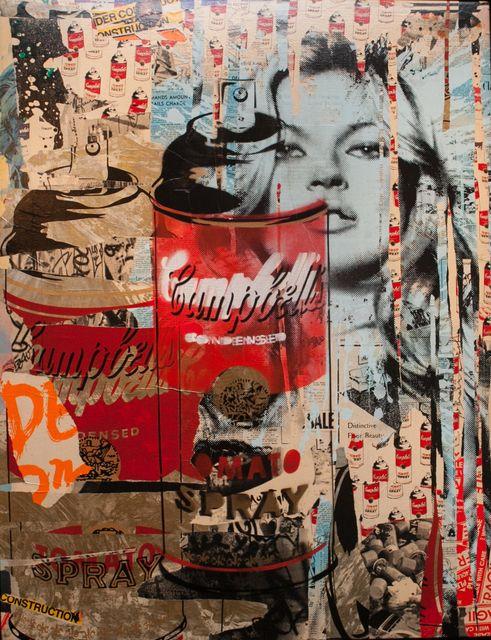 Mr. Brainwash | Kate Moss (2011). MBW, tel qu'il est présenté dans le film Faites le mur !, fut généralement considéré comme un personnage de fiction et un « gag » de Banksy visant à dénoncer les travers du marché de l'art — les œuvres de Mr Brainwash étant souvent considérées comme une pâle copie du style de Warhol ou de Banksy lui-même, ce qu'il n'est pas;