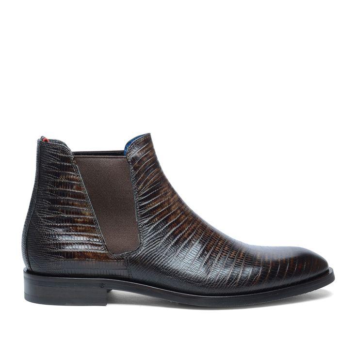 Giorgio Azzurro Chelsea boots croco print #Croco print #Chelsea boots